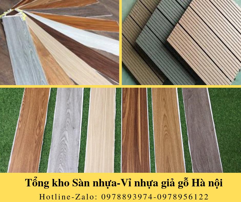 Sàn nhựa tự dán giả gỗ