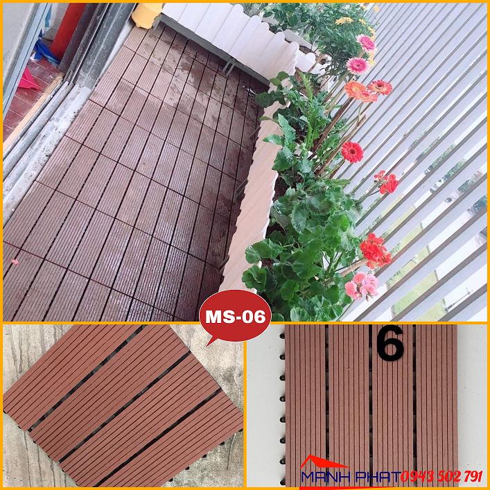 Vỉ nhựa composite giả gỗ lát sàn ban công