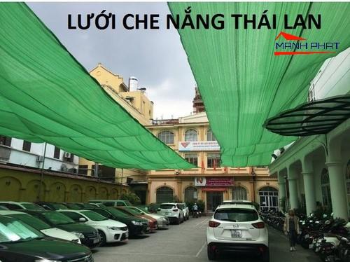 Lưới che nắng bãi xe ô tô